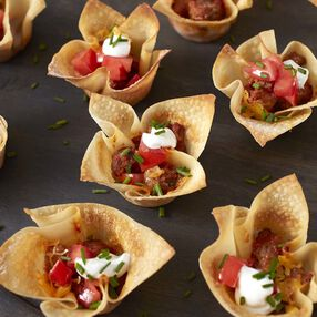 Mini Taco Cups Recipe
