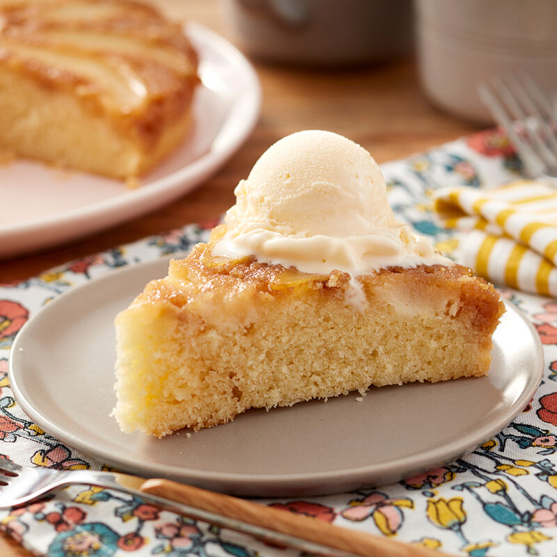 Upside-Down Pear Cake Recipe image number 1
