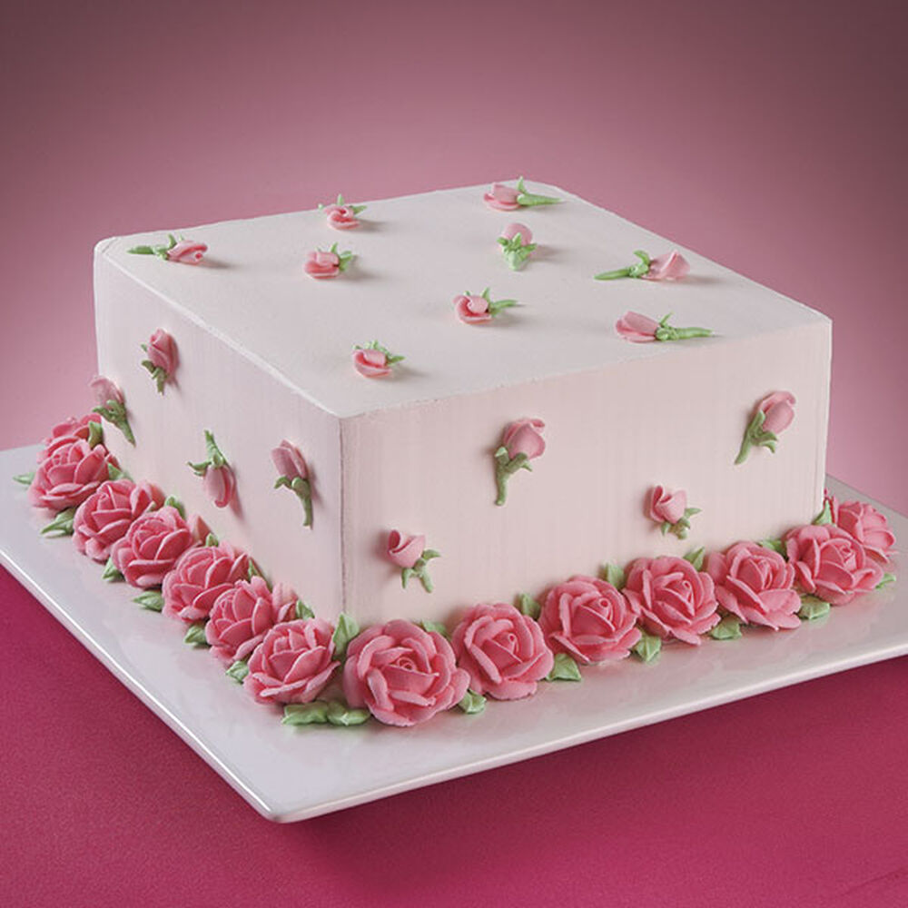 Rose Flower Cake Design