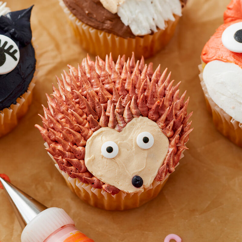Cute Woodland Creature Cupcakes - Porcupine Cupcake image number 3