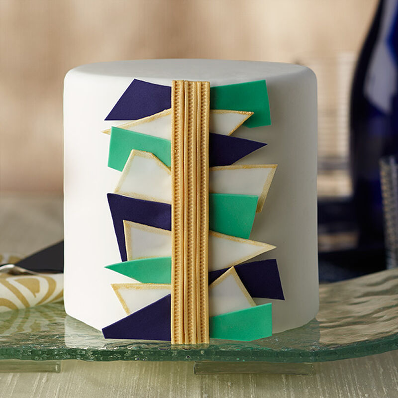 Abstract Art Fondant Cake image number 0