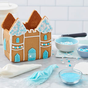 Shimmer and Sparkle Gingerbread Castle decorating idea