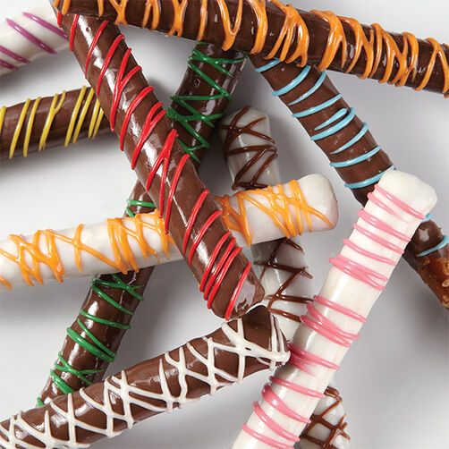 Quick and Colorful Drizzled Pretzels