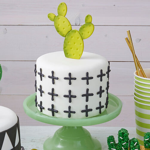 Dot and Cross Cactus Cake