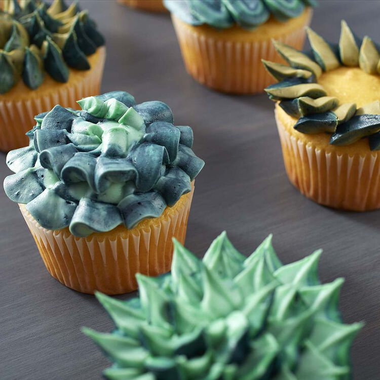Mossy and Mint Green Cupcakes