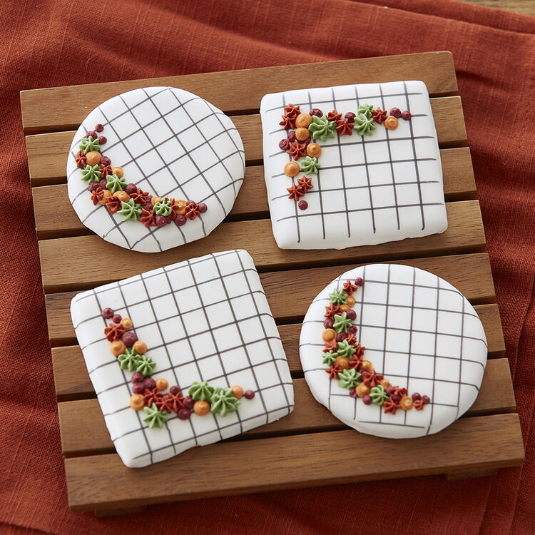 Fall Cookies on the Grid