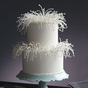 Delicate Feather Wedding Cake