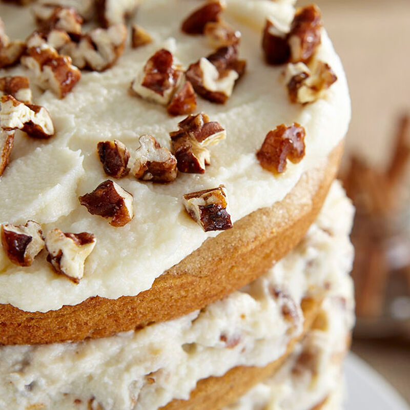 Spice Cake with Mascarpone and Candied Pecans image number 2