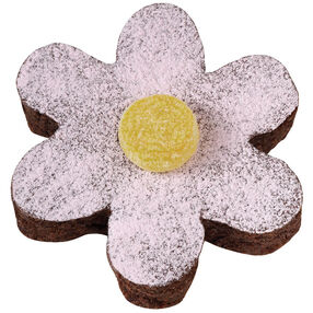 Dusted Daisy Brownies