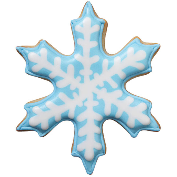 Blue Snowflake Cookie