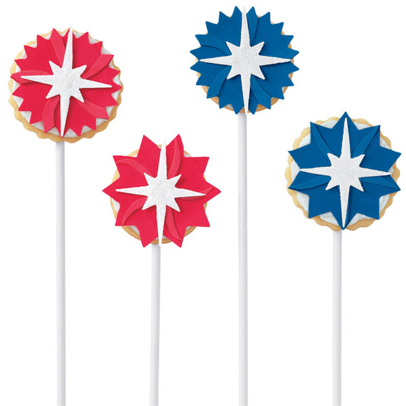 Red, White & Blue Star Pop Cookies image number 0