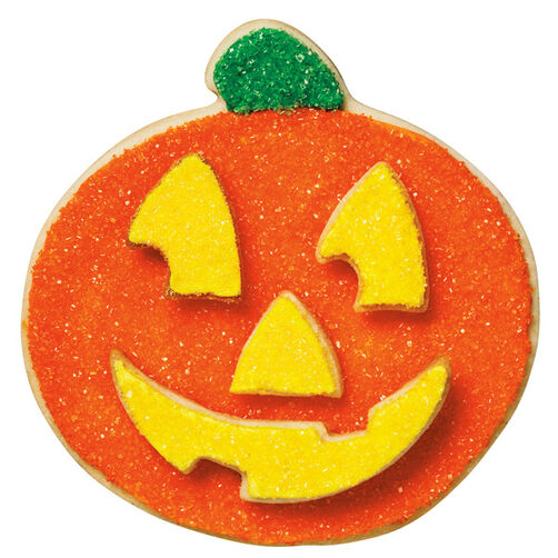 Glittering Pumpkin Cookie