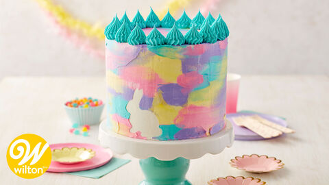 How to Make an Easter Watercolor Cake