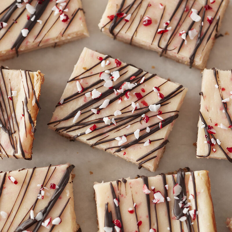 Candy Cane Cheesecake Bars Recipe image number 0