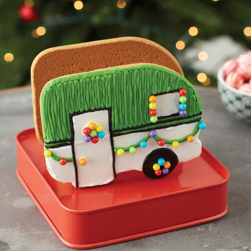 Great Outdoors Gingerbread Camper Wilton