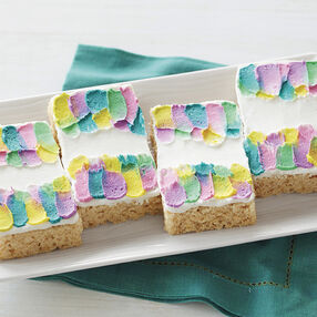Shades of Spring Rice Cereal Treats