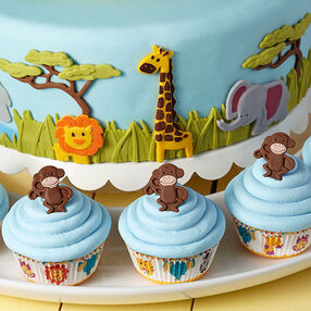 Jungle Animals Jamboree Fondant Cake