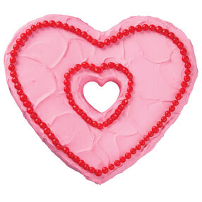 Sweet and Simple Heart Cake