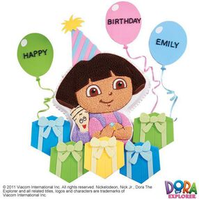Dora Explores the Gifts Cake & Cupcake