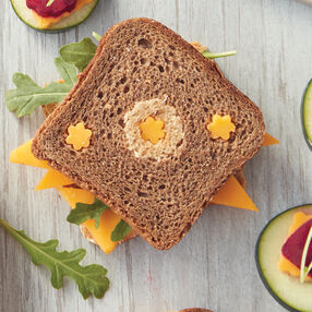 Rye and Pumpernickel Cheese Sandwiches