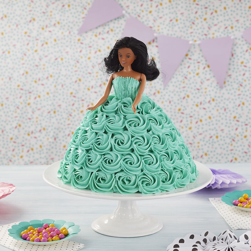 Tickled Teal Doll Cake image number 0