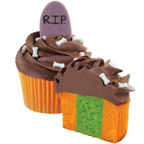 Tombstone Two-Tone Cupcakes