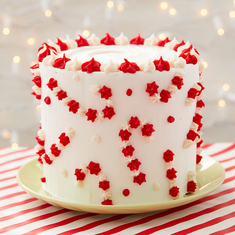 Christmas Candy Cane Cake image number 0