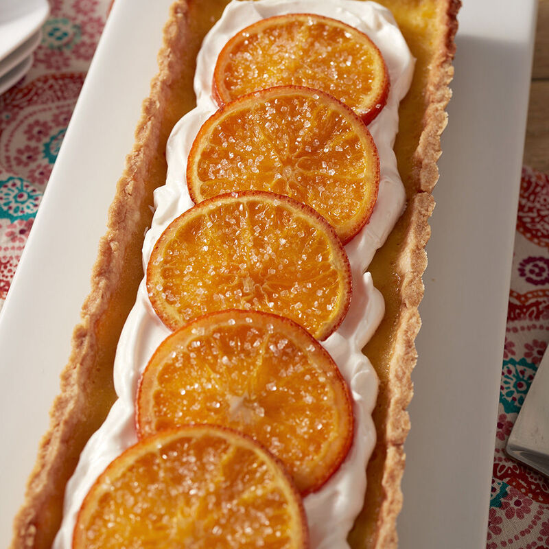 Candied Tangelo Tart Recipe image number 1