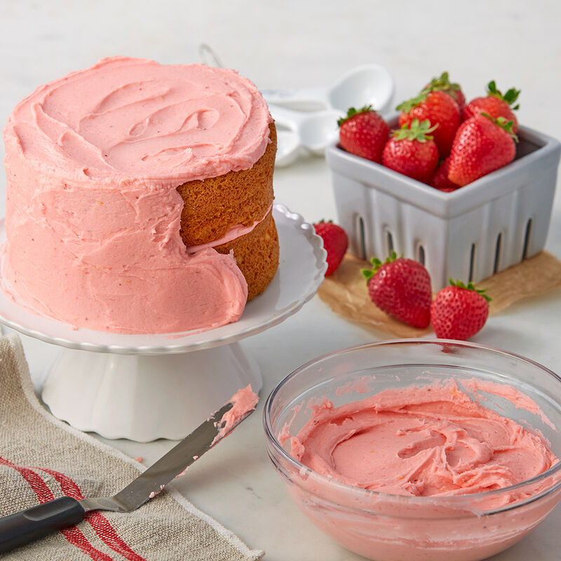 Strawberry Buttercream Icing Recipe image number 0