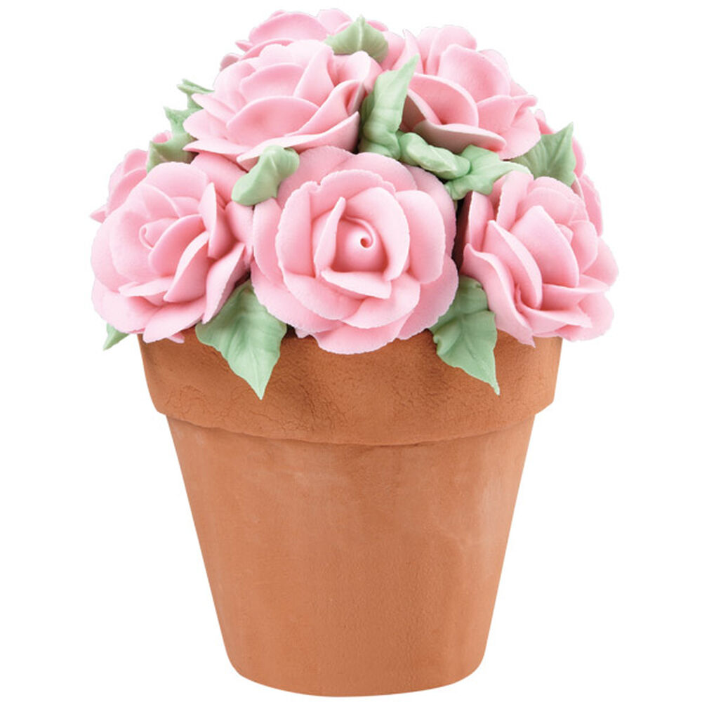 bouquet of roses flower pot cake wilton. Black Bedroom Furniture Sets. Home Design Ideas