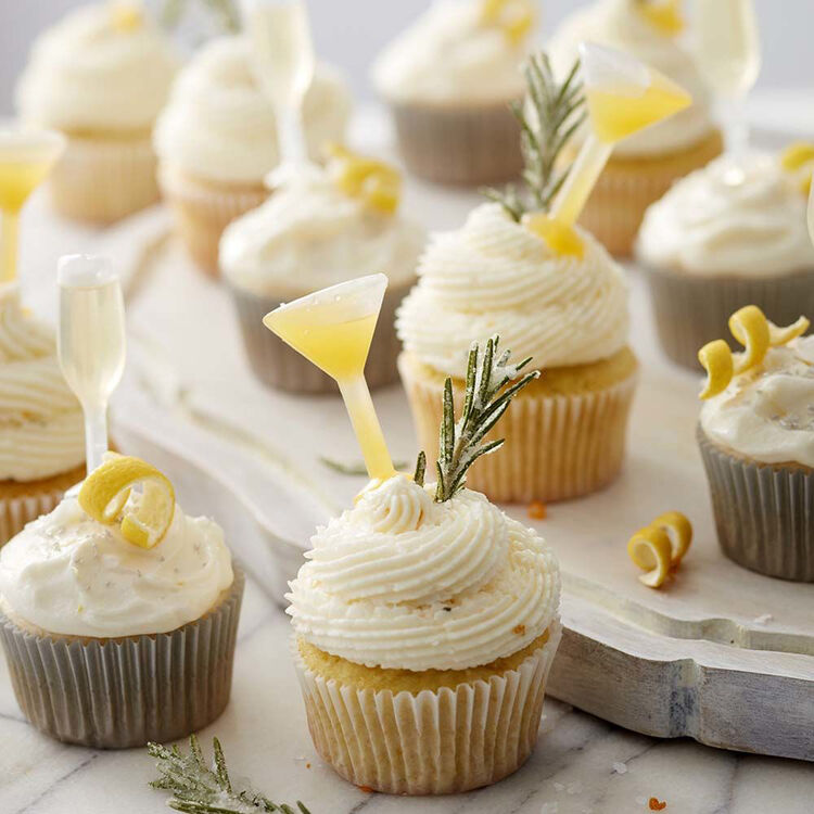 French 75 Champagne Cupcakes Recipe