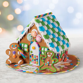 Holiday Bright Gingerbread House