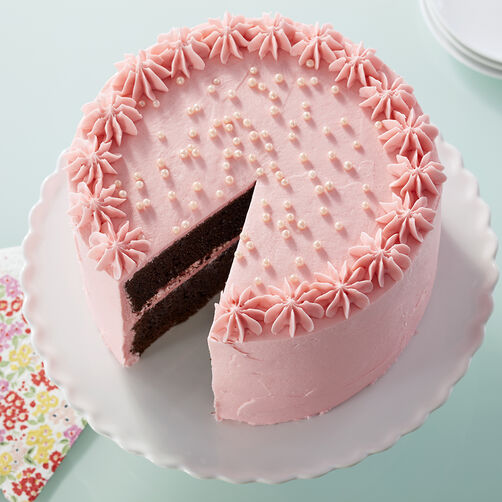 Pearly Pink Cake Wilton