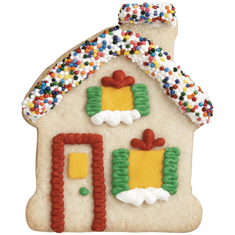 Candy Roof Gingerbread House Cookie image number 0