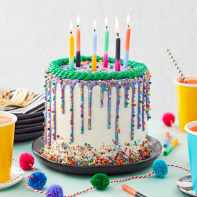 Bright and Bold Birthday Cake