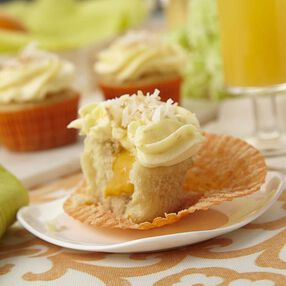 Tropical Getaway Cupcakes