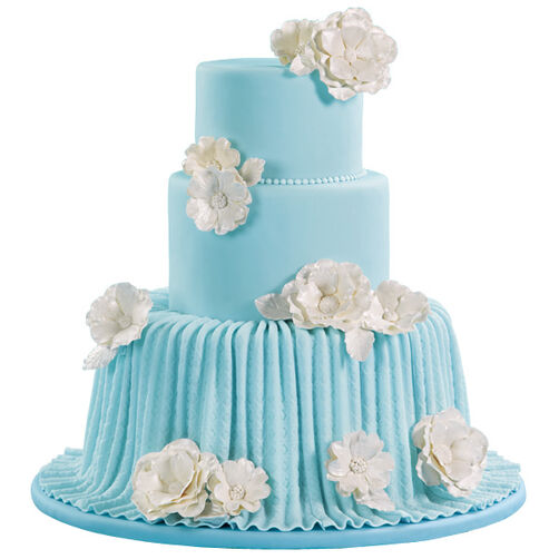 Pleated Drape Wedding Cake