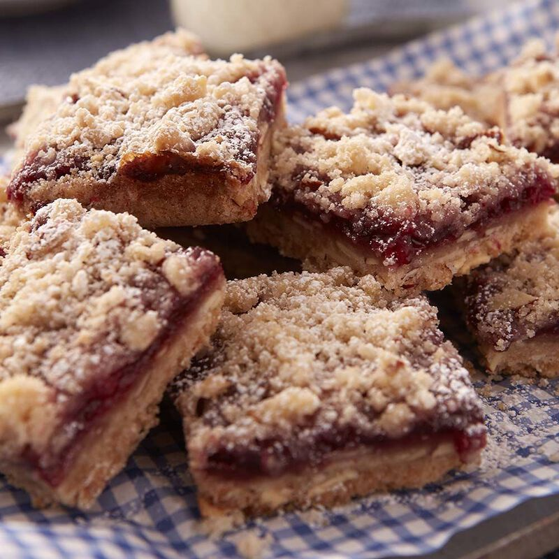 Raspberry Almond Crumble Bars Recipe image number 0