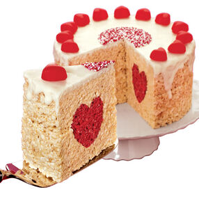 A Valentine Cake with Heart
