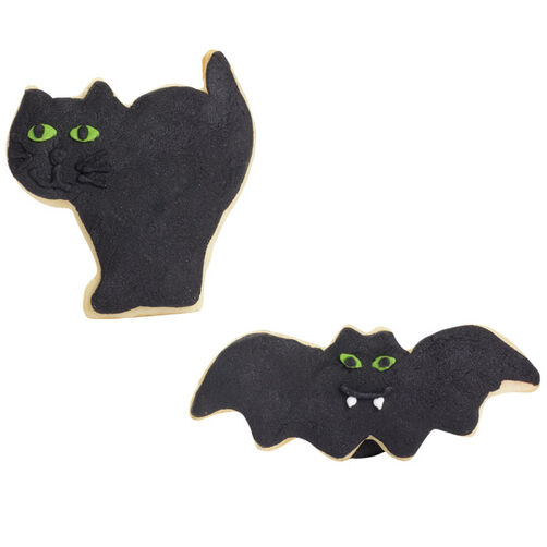 Lab Cat & Bat Cookies