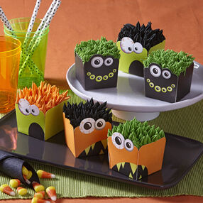 Hair-Raising Halloween Monster Cupcakes