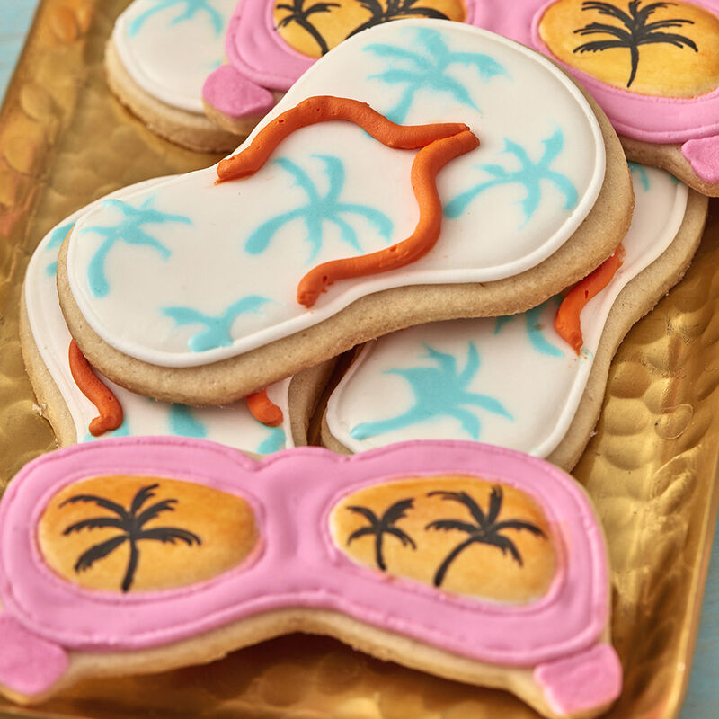 Sunglasses and Sandals Decorated Sugar Cookies image number 0