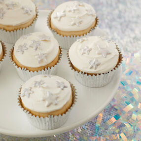 Silver Candy Star Cupcakes