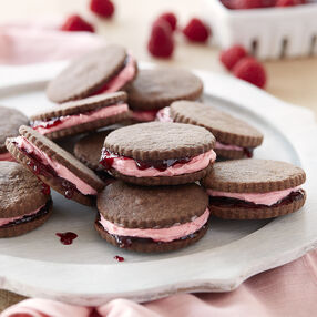 Raspberry Jam Shortbread Sandwich Cookies