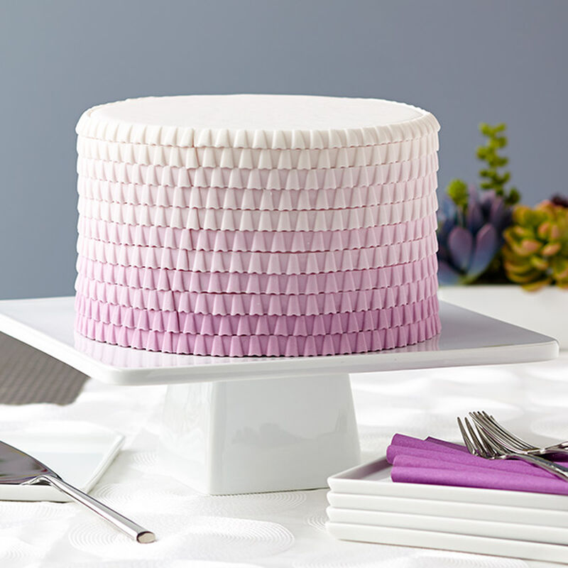 Purple Ombre Ruffled Cake image number 0