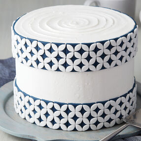 Navy Blue Tile Cake