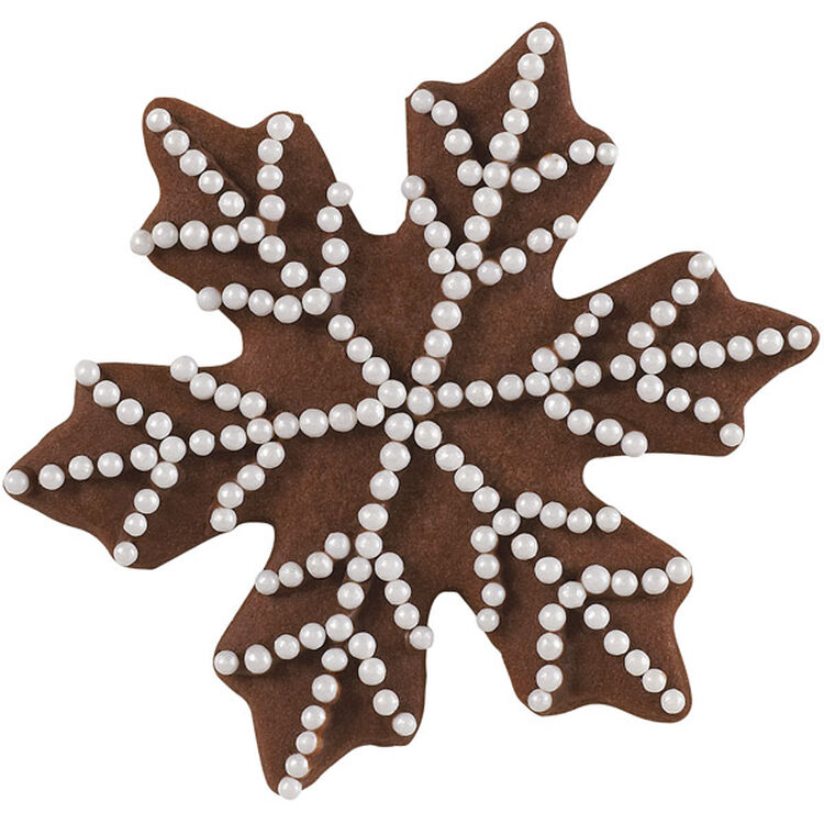 Pearly Snowflake Holiday Cookie