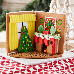 Cozy Fireplace Gingerbread Scene #2