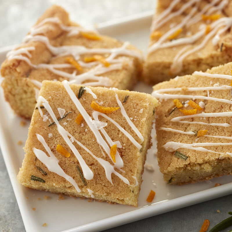 Orange and Rosemary Cookie Bars image number 1