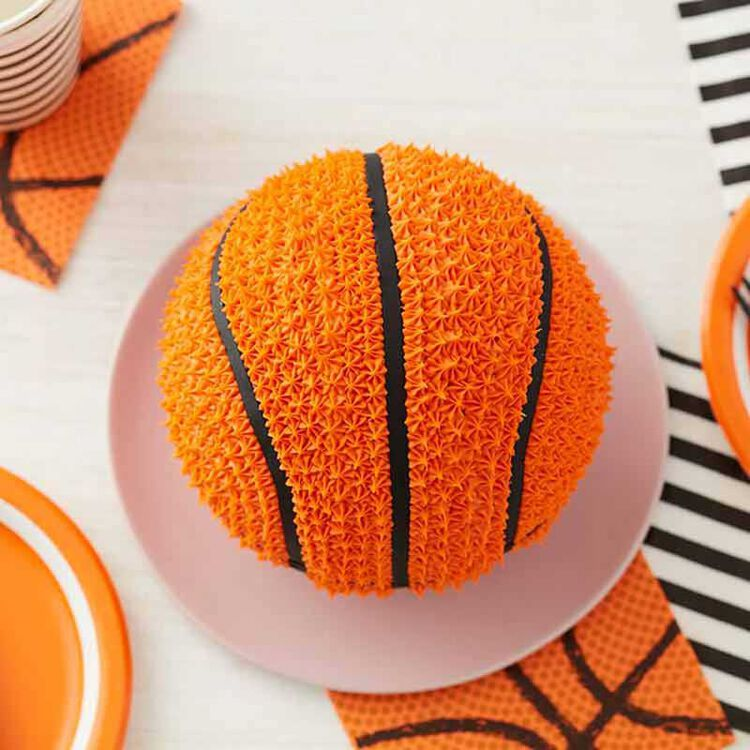 Top of 3D Basketball Cake